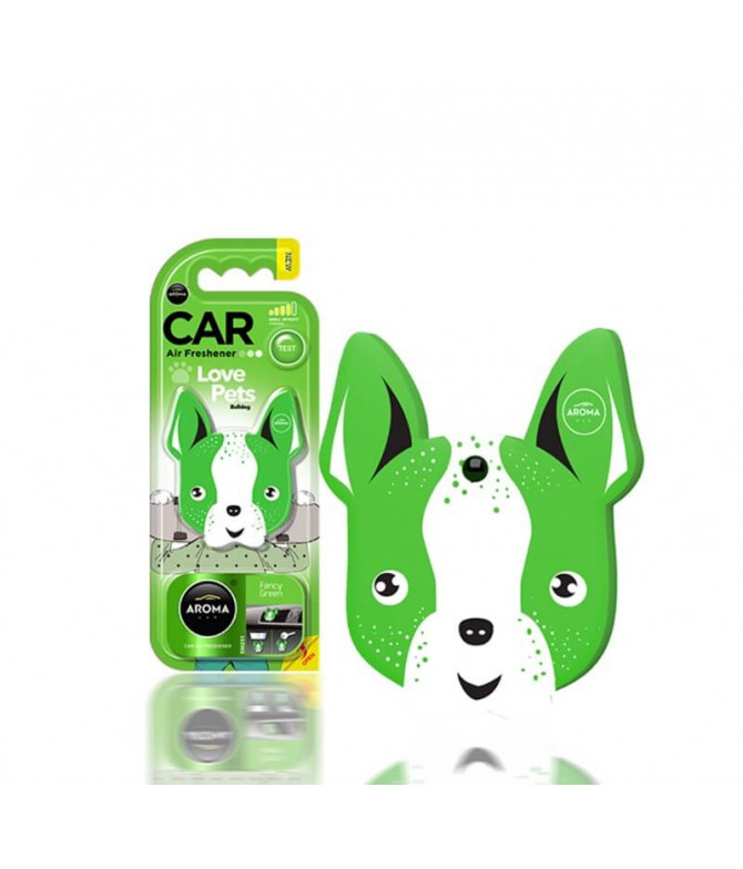 Aroma Car Ambientador Auto Dog Fancy Green 1un T