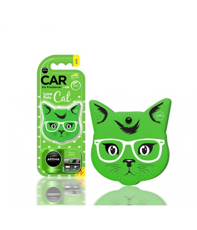 Aroma Car Ambientador Auto Cat Fancy Green 1un T