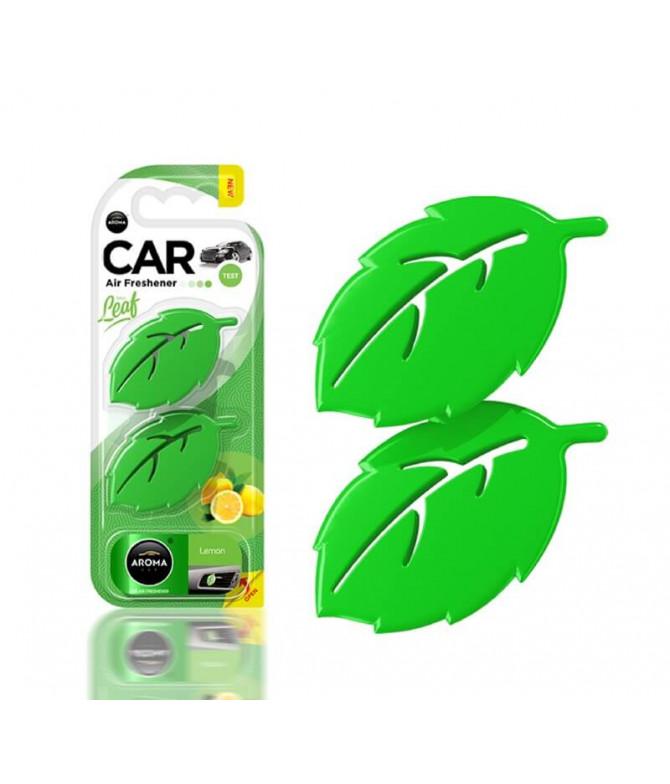 Aroma Car Ambientador Auto Leaf Lemon 2un T