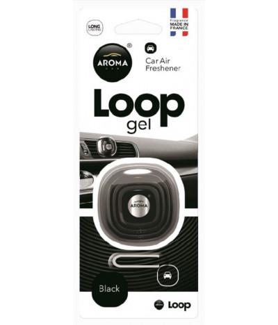 Aroma Car Ambientador Auto Loop Gel Black 1un T