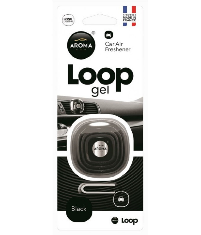Aroma Car Ambientador Auto Loop Gel Black 1un