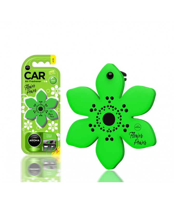 Aroma Car Ambientador Auto Flower Fancy Green 1un T
