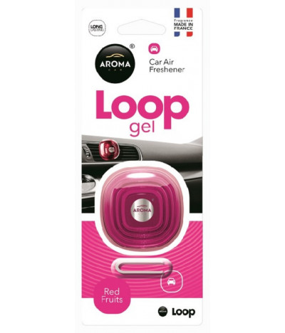 Aroma Car Ambientador Auto Loop Gel Red Fruits 1un T