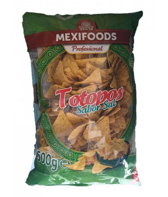 Mexifoods Nachos Totopos Sabor Sal 500gr
