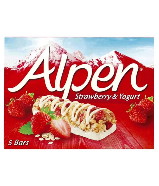 Alpen Barrita Cereais Morango & Iogurte 5un