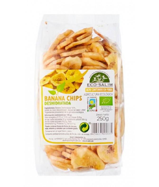 Eco-Salim Banana Chips Desidratada BIO 250gr