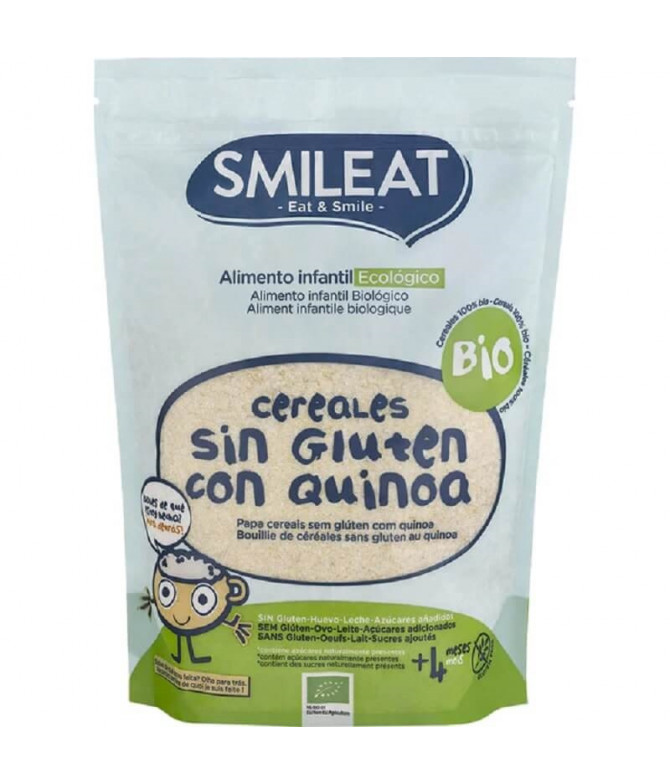Smileat Papa Cereais & Quinoa Sem Glúten 200gr