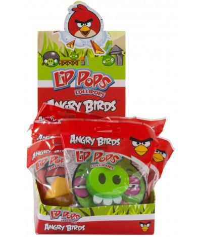 Chupa-chupa Lip Pops Angry Birds 1 UNIDADE