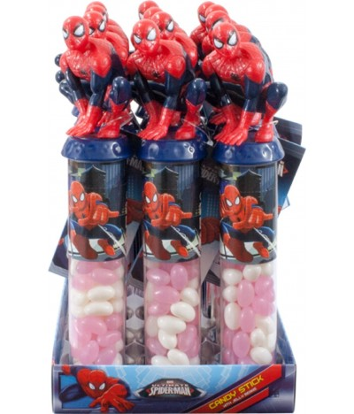 Caramelos Candy Stick Spiderman 1 UNIDADE x 50gr
