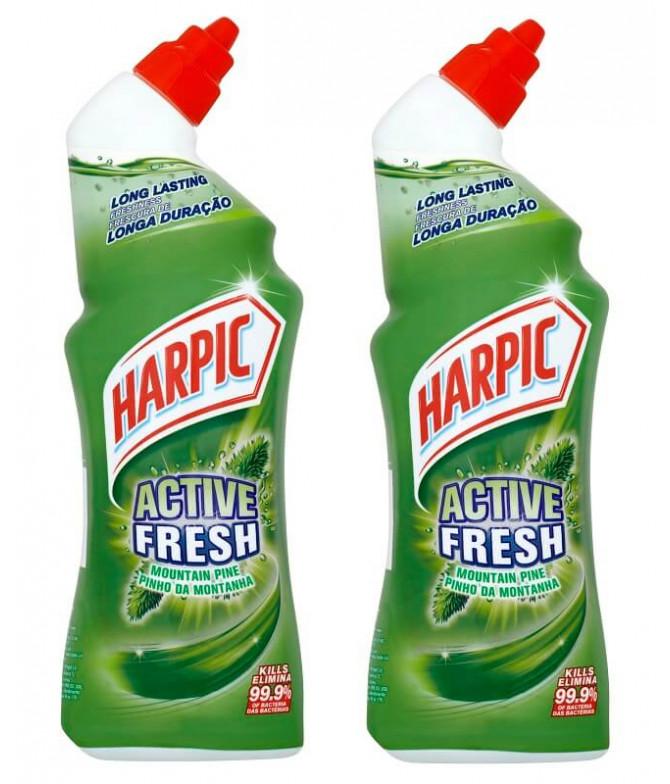 PACK 2 Harpic Active Fresh Pinho Montanha 750ml