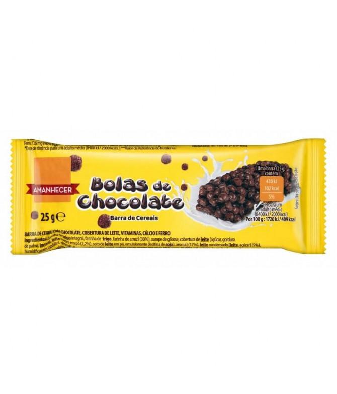 Amanhecer Barrita Bolas Chocolate 25gr