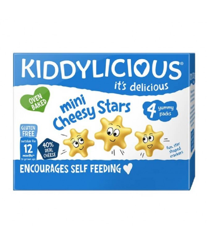 Kiddylicious Stars Snack Queso 48gr T