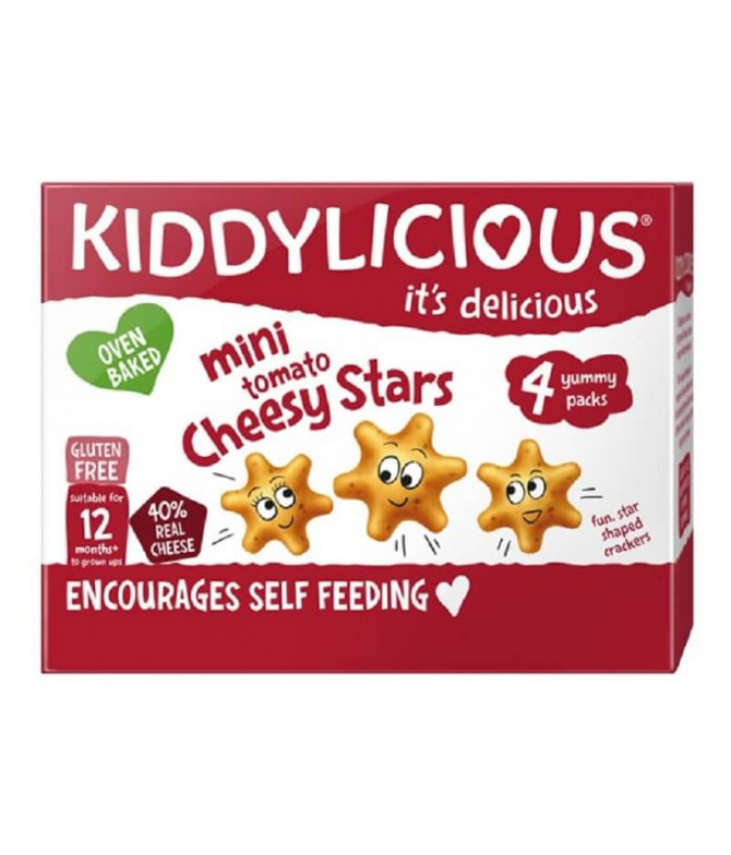 Kiddylicious Stars Snack Tomato & Queso 48gr T