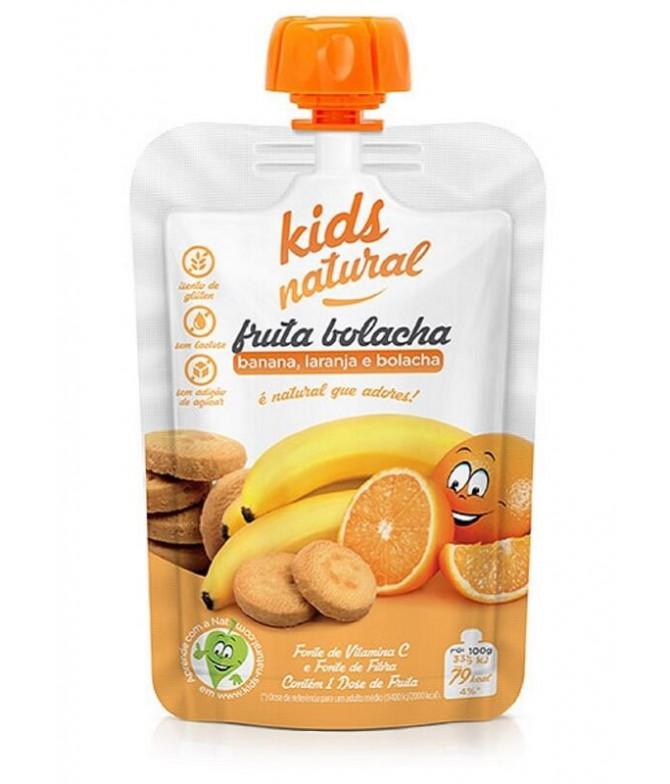 Snack Fruta Plátano Naranja Galleta 100gr T