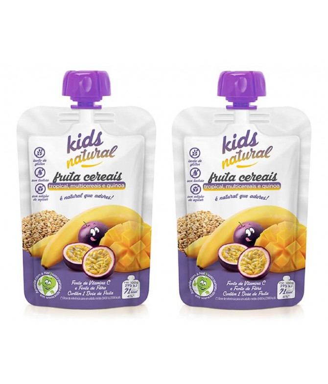 PACK 2 Snack Fruta Tropical Multicereais Quinoa 100gr