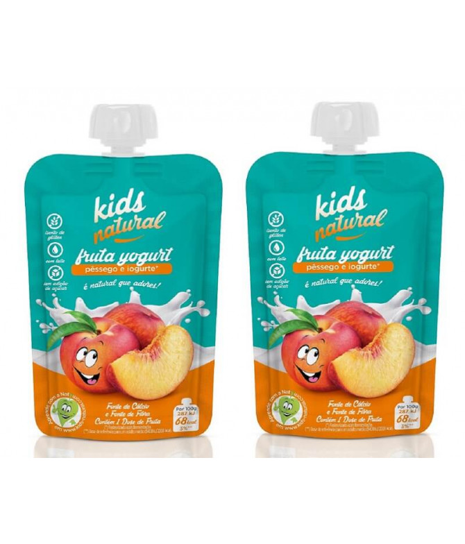 PACK 2 Snack Fruta Pêssego Iogurte SEM GLÚTEN 100gr
