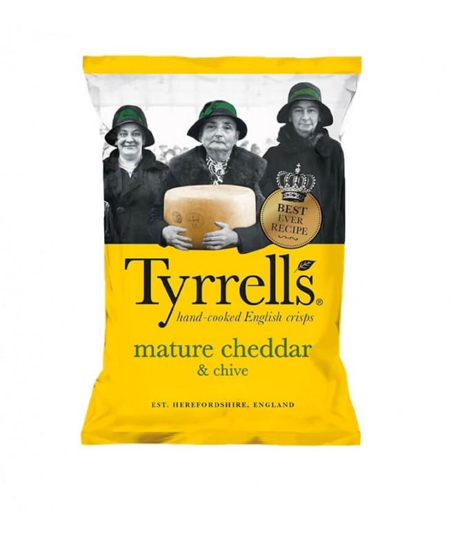 Tyrrells Chips Cheddar & Cebollino 150gr T