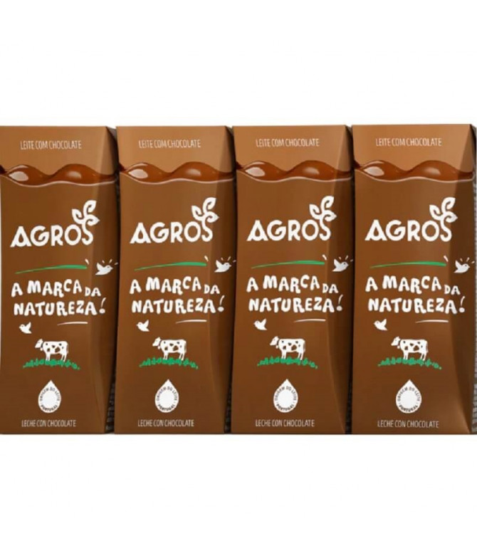 Agros Leite com Chocolate 4x200ml