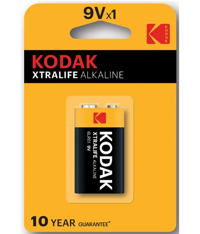 Kodak Pilhas Xtralife Alkaline 6LR61 9V 1un