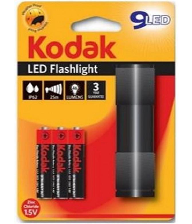 Linterna LED Flashlight NEGRO + 3 Pilas AAA T