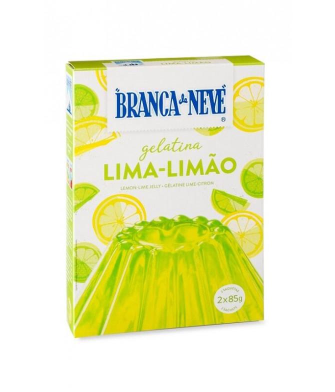 Branca de Neve Gelatina Lima-Limão 2x85gr