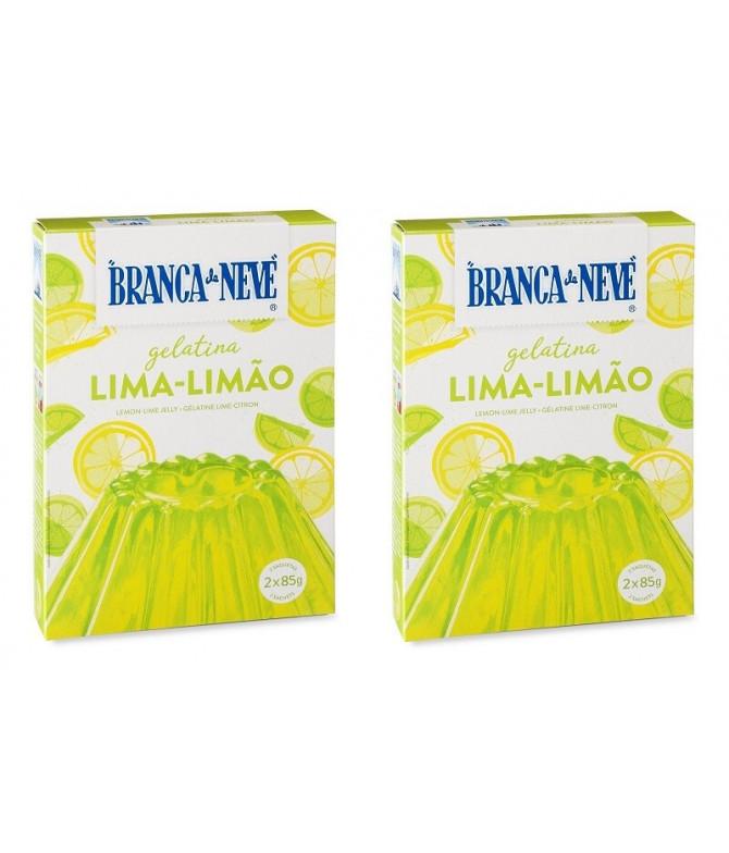 PACK 2 Branca de Neve Gelatina Lima-Limão 2x85gr