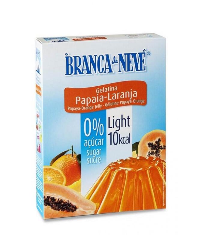 Branca de Neve Gelatina Light Papaia & Laranja 31gr