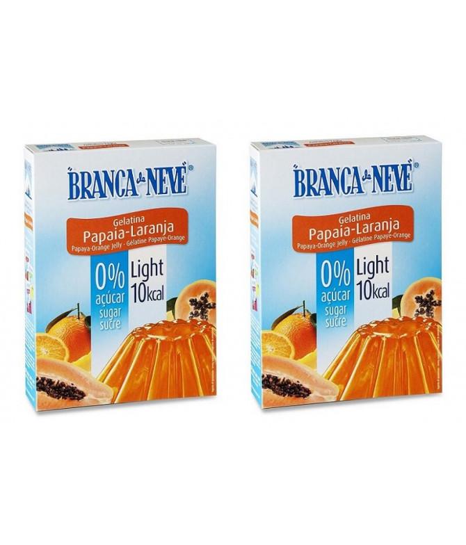 PACK 2 Branca de Neve Gelatina Light Papaya & Naranja 31gr T