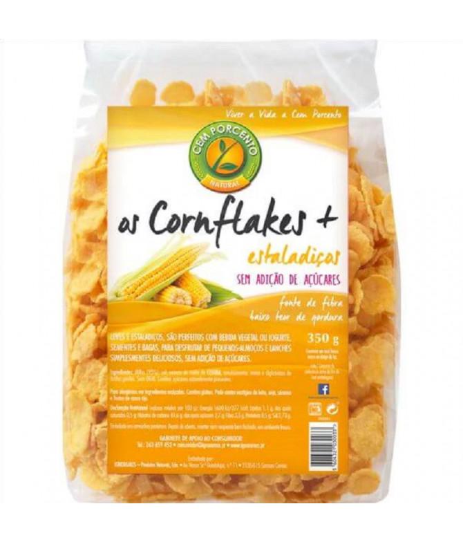 Cem Porcento Corn Flakes Sin Azúcar 350gr T