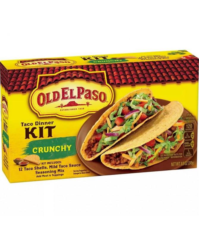 Old El Paso Kit Jantar Taco Crunchy 313gr T