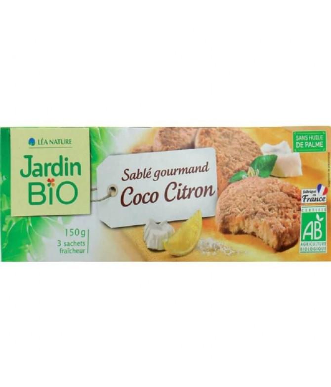 Jardin Bio Galleta Coco Limón 150gr T