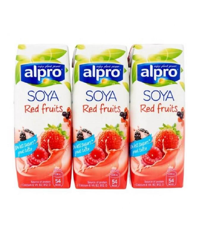 Alpro Bebida Soja Frutos Rojos 3x200ml T