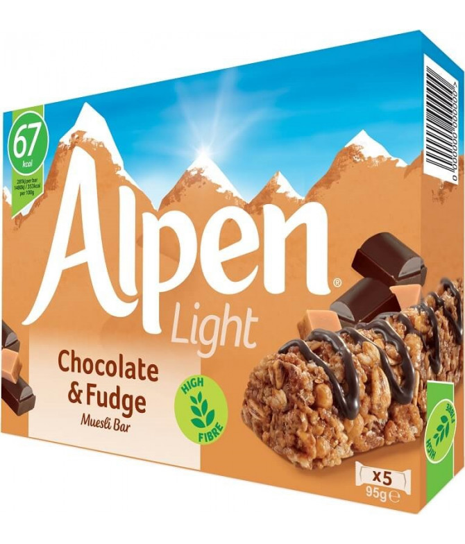 Alpen Light Barrita Chocolate Caramelo 5un T