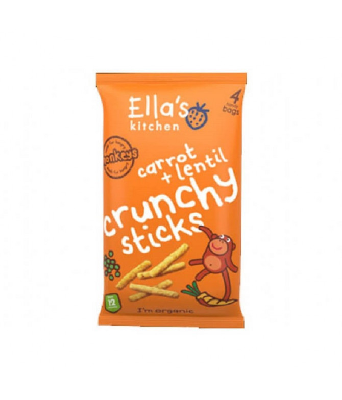 Ella's Snack de Cenoura e Lentilhas 60gr