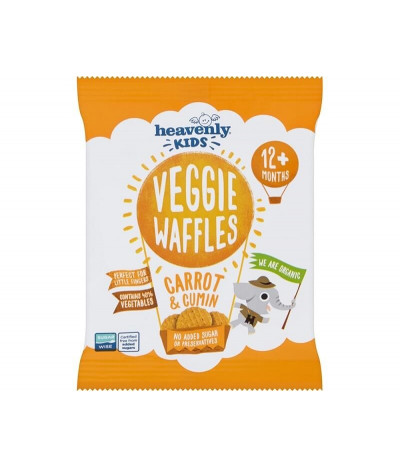 Heavenly Veggie Waffle Cenoura Cominhos 10gr