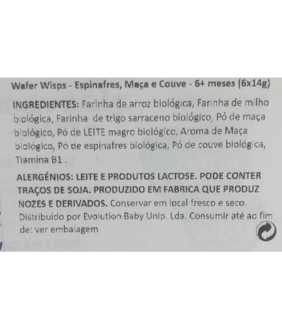 Heavenly Galleta Wafer Wisps Manzana Espincas Kale BIO 60gr T