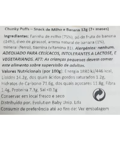Kiddylicious Snack Plátano 12gr T