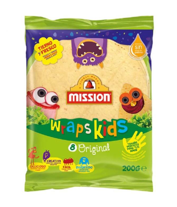 Mission Wraps de Trigo Kids 8un