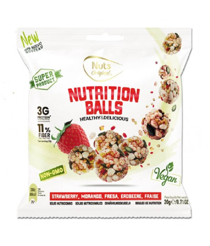 Nutrition Balls Frutos Secos & Fresa 20gr T