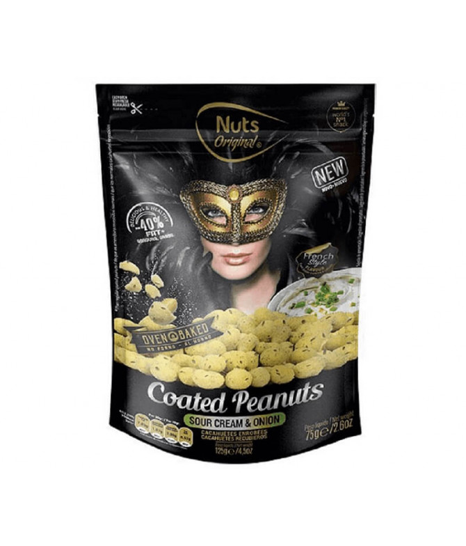 Nuts Original Cacahuetes Sour Cream & Cebolla 75gr T