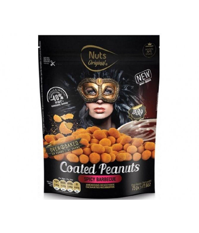 Nuts Original Cacahuetes Barbecoa 75gr T