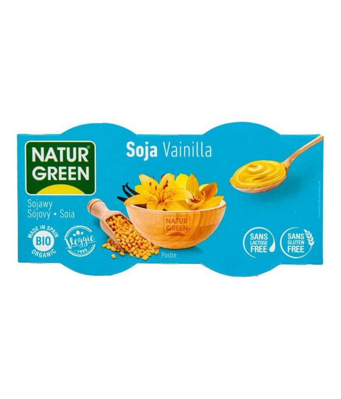 Naturgreen Sobremesa Soja Baunilha BIO 2x125gr