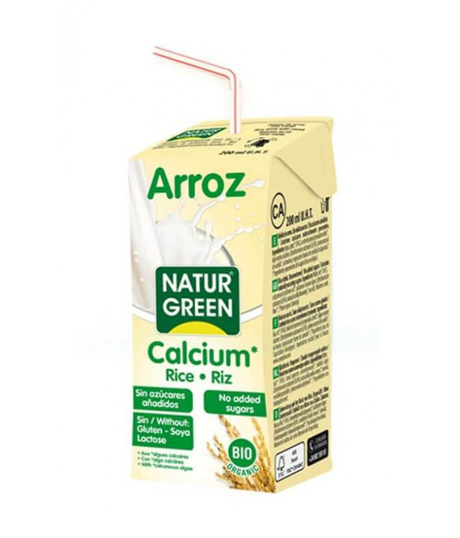 NaturGreen Bebida Arroz Cálcio BIO 200ml