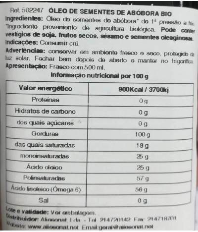 NaturGreen Aceite Semilla Calabaza BIO 500ml T