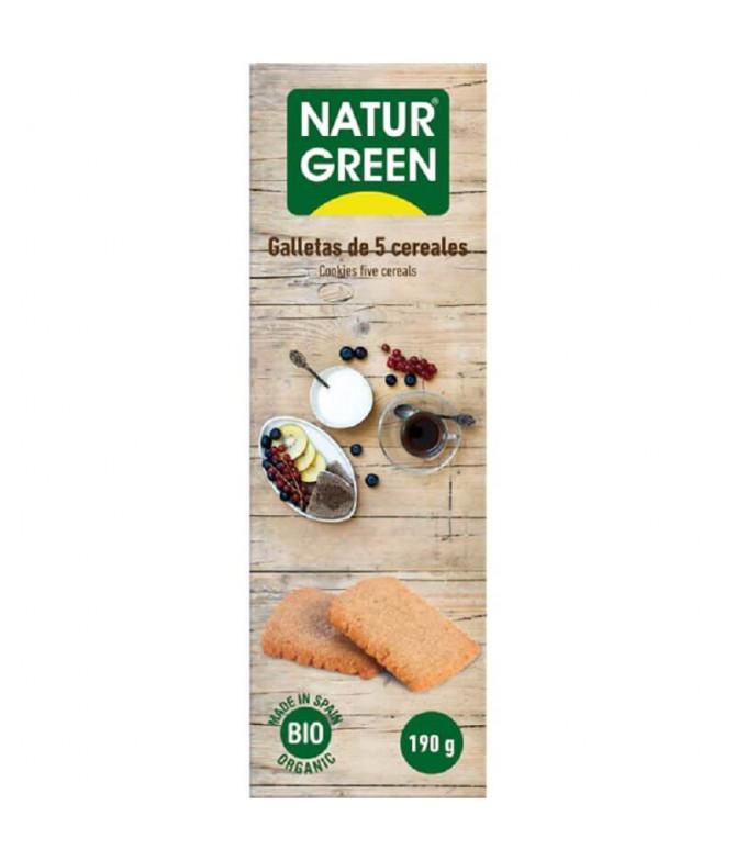 NaturGreen Bolacha 5 Cereais BIO 190gr