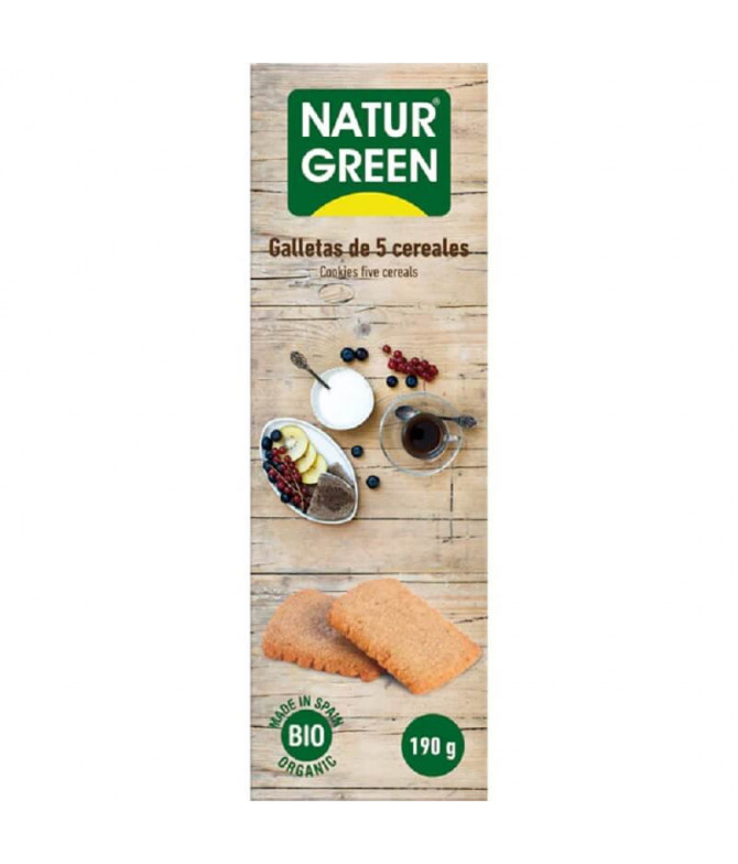 NaturGreen Galleta 5 Cereales BIO 190gr T