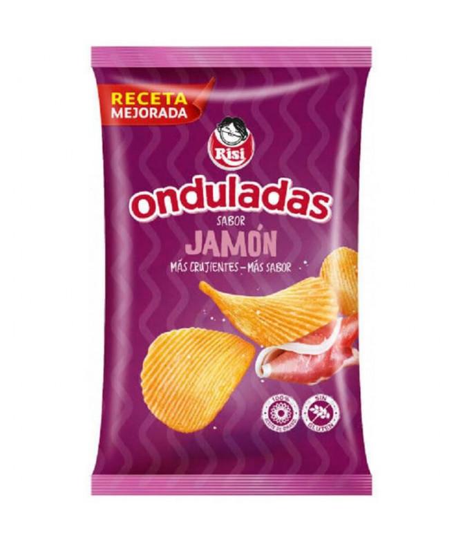 Risi Patatas Fritas Onduladas Jamón 100gr T