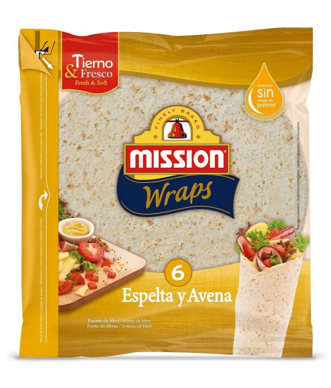 Mission Wrap Espelta & Aveia 6un