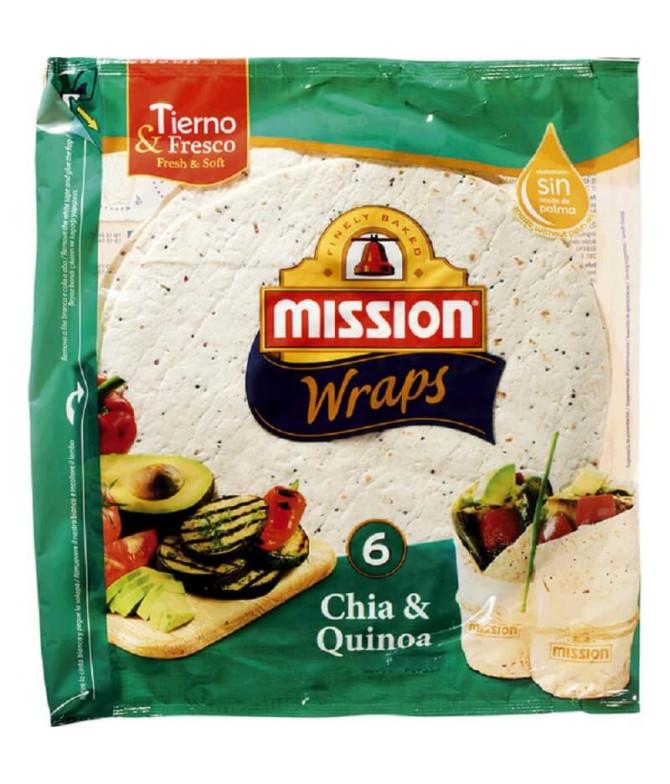 Mission Wrap Trigo Chia Quinoa 6un