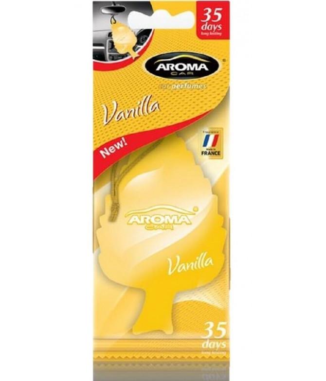 Aroma Car Ambientador Leaf Vanilla 1un T